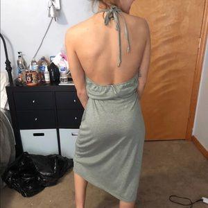 Low back halter tied dress